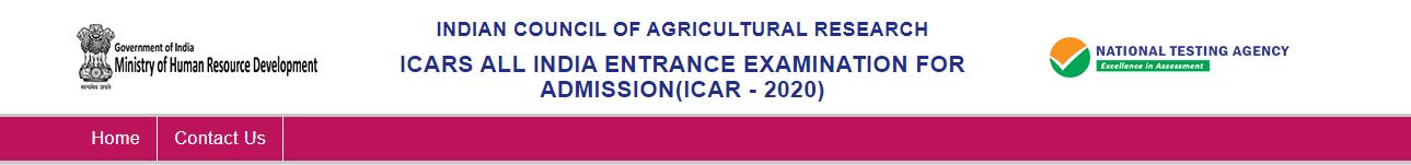 NTA ICAR Admission Online Form 2020