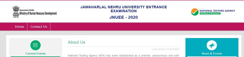 NTA JNU Admission 2020 Online Form