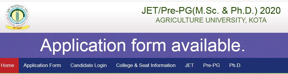 JET Application Form 2020